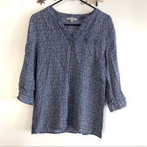 🦋 3/$15 Ann Carson blue pullover blouse